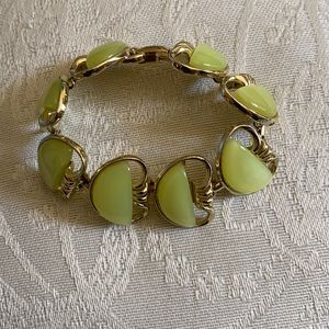 Costume jewelry green bracelet